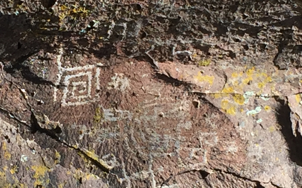 Petroglyps near Meadows Edge Cabins